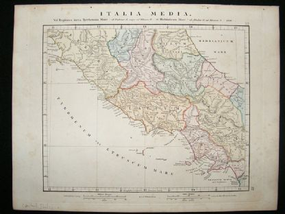 Central Italy: 1864 Antique Map, Aaron Arrowsmith | Albion Prints